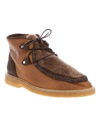 Opening Ceremony | Brown Shearling Boot for Men | Lyst