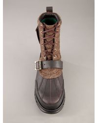 Polo Ralph Lauren - Brown Ankle Boot for Men - Lyst