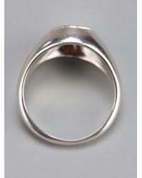 RebekkaRebekka - Metallic The Oval Ring - Lyst
