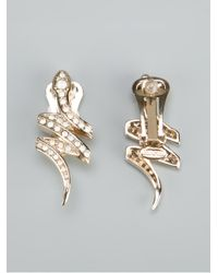 Roberto Cavalli | Metallic Snake Earrings | Lyst