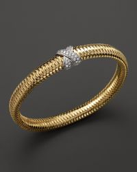Roberto Coin - 18k Yellow Gold Primavera Bangle - Lyst
