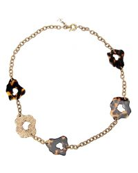 Saint Laurent - Multicolor Leopard Print Necklace - Lyst