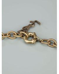 Saint Laurent - Multicolor Leopard Print Necklace - Lyst