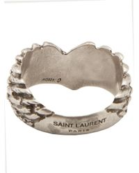 Saint Laurent - Metallic Wings Ring for Men - Lyst