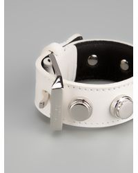 Saint Laurent - White Bracelet De Force Cuff - Lyst