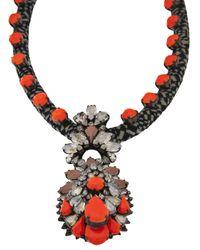 Shourouk - Orange Wax Necklace - Lyst