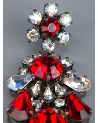 Shourouk | Red Crystal Earrings | Lyst