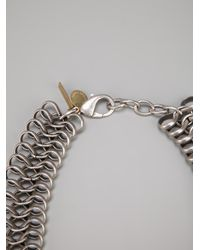Silvia Gnecchi - Metallic Woven Chain Necklace - Lyst