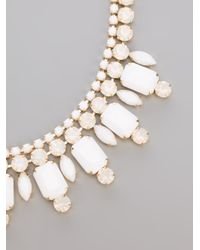 Silvia Gnecchi - White Diamante Necklace - Lyst