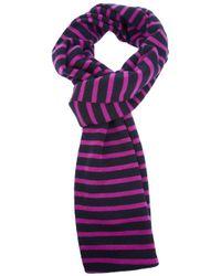 S.N.S Herning | Purple Striped Scarf | Lyst