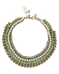 Sveva Collection - Green Ankorvat Necklace - Lyst