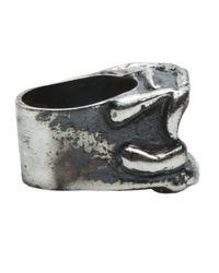 Tamara Akcay | Metallic Large Crater Ring for Men | Lyst