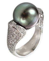 Tamara Comolli | White Solitaire Tahitian Pearl Ring | Lyst