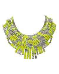 Tom Binns - Yellow Splash Out Neon Massai Necklace - Lyst