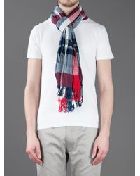 Tommy Hilfiger - Red Cary Scarf for Men - Lyst