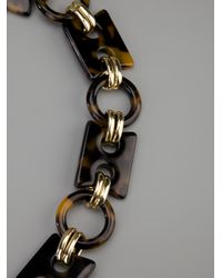 Tory Burch - Brown Link Necklace - Lyst