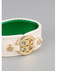 Tory Burch - White Skinny Double Snap Cuff - Lyst
