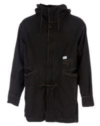 Undercover - Black Cotton Hooded Jacket for Men - Lyst
