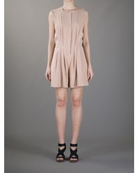 Vanessa Bruno | Natural Ppeated Playsuit | Lyst