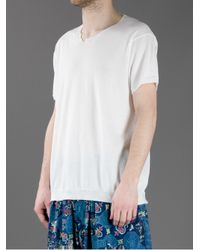 Yohji Yamamoto - White Short Sleeved T-Shirt for Men - Lyst