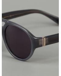 Saint Laurent | Gray Round Frame Sunglasses | Lyst