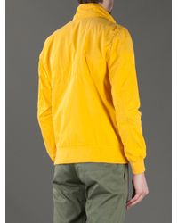 Baracuta | Yellow Funnel Neck Jacket for Men | Lyst
