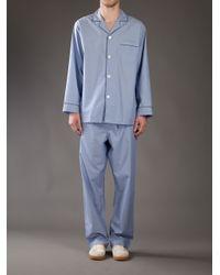 Brooks Brothers - Blue Cotton Pyjama Top for Men - Lyst