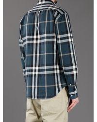 Burberry Brit | Blue Jesse Printed Cotton Shirt for Men | Lyst
