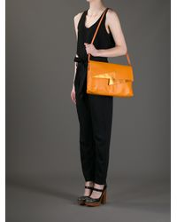 Frankie Morello - Orange Thunderbolt Shoulder Bag - Lyst
