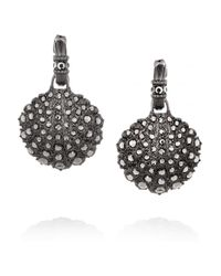 Giles & Brother - Metallic Hematiteplated Crystal Shell Earrings - Lyst
