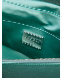 Giorgio Armani - Green Beaded Satin Clutch - Lyst