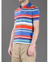 Polo Ralph Lauren Blue Striped Polo Shirt for men