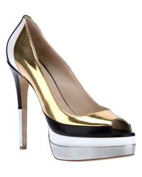 Ruthie Davis | Metallic Golf Shoe | Lyst