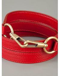 Saint Laurent | Red Leather Belt | Lyst