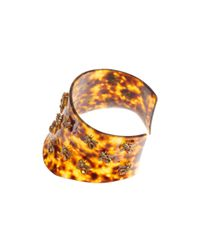 Alexander McQueen - Brown Plexi Tortoise Shell Bee Choker - Lyst