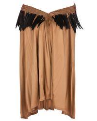 Ann Demeulemeester | Brown Feather Trim Dress | Lyst