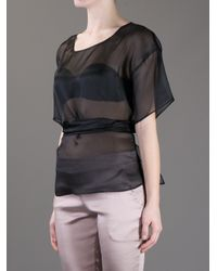 Anne Valerie Hash - Black Phi Cut Out Blouse - Lyst