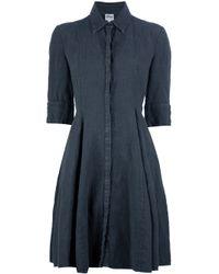 Armani Gray Linen Shirt Dress