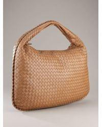 Bottega Veneta - Brown Junior Intrecciato Nappa Large Veneta Bag - Lyst
