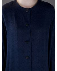 Cerruti 1881 | Blue Embossed Square Cardigan | Lyst