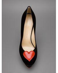Charlotte Olympia | Black Delphine Court Shoe | Lyst