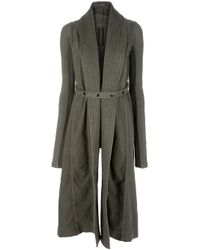 DRKSHDW by Rick Owens | Green Long Coat | Lyst
