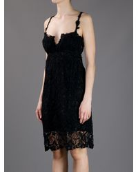 Ermanno Scervino - Black Embroidered Lace Dress - Lyst