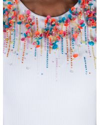 Issa - White Sequin Embellished Sleeveless Dress - Lyst