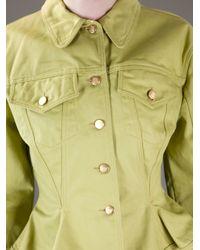 Jean Paul Gaultier - Yellow Denim Skirt Suit - Lyst