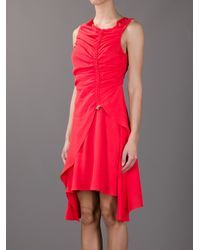 KENZO - Red Drawstring Dress - Lyst