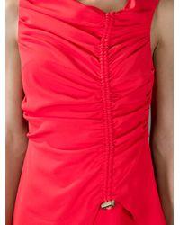 KENZO - Red Drawstring Dress - Lyst