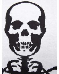 Lucien Pellat Finet - Black Skeleton Scarf - Lyst