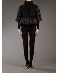Moncler Gamme Rouge - Black Silk Padded Jacket - Lyst