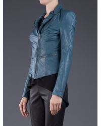 Muubaa - Blue Leather Jacket - Lyst